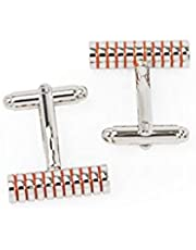 Parejo Cufflinks For Men, CLO-0107-1,Stainless Steel