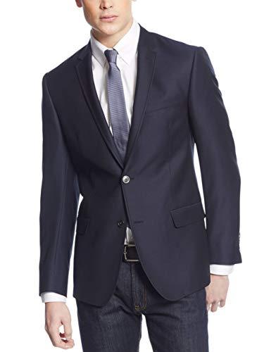(DKNY Extra Slim Fit Blazer 42R Navy Solid Wool New Men's Sport Coat)