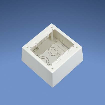 Panduit JBP2DWH 2-Gang Deep Outlet Box, White, 2-Piece by Panduit