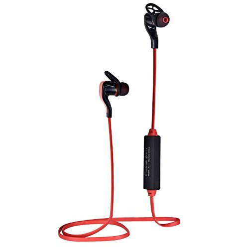Price comparison product image Bluetooth Headphones, Folote Bluetooth Earbuds V4.1 Wireless Sports Headphones Sweatproof Running Gym Stereo Headsets with Mic/APT-X for Samsung, iPhone and Android Smartphones (Red)
