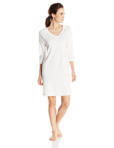 Hanro Pure Essence, Camisón para Mujer Marfil (off white 0102)