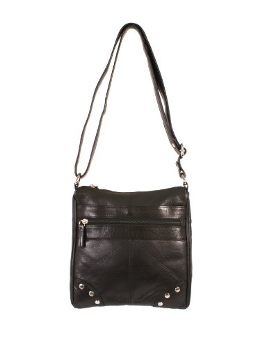 Oxbridge Satchel's, Borsa a secchiello donna nero Black