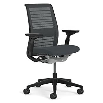steelcase think office chair. Steelcase Think 3D Mesh Fabric Chair, Licorice Office Chair