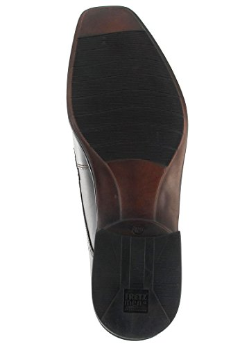 FRETZ men - Zapatos de cordones de cuero para hombre marrón marrón