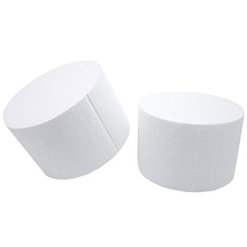 Bright Creations Round Foam Cake Dummy, 6 x 4 Inches, White