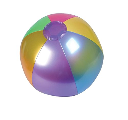 Rhode Island Novelty (INMBB18) Metallic Beach Balls Swimming Pool Toys 18
