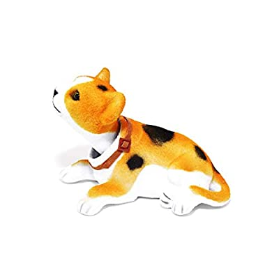 Batty Bargains Dashboard Bobblehead Orange Cheeto Cat with Auto Dashboard Adhesive: Toys & Games