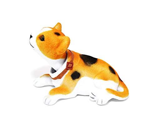 Batty Bargains Dashboard Bobblehead Orange Cheeto Cat with Auto Dashboard Adhesive - Orange Bobble Head