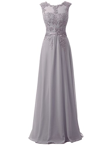 [Belle House Women's Long Evening Ball Gown A Line Grey Size 2 Prom Dress] (1980s Dress)