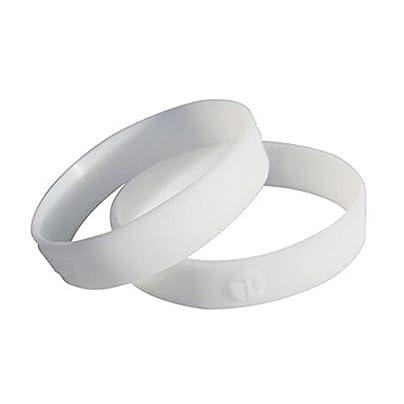 Silicone Bracelet Wristband pcs Fashion Unisex white Wristband Estimated Price £9.62 -