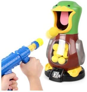 Duck Hunt Target Shooting Interactive Hand Held Arcade Tabletop Indoor Outdoor Fun Hobby Game to Keep Kids Active Help Minimize Gadget Time - Young Hunters Classic Rifle Popper Children Training Toy