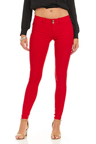 Ultra Skinny Cigarette Butt Lift  Slim Fit Extra Stretch Junior Pants Jeans Size 3 in Red ()