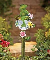 Amazoncom Decorative Solar Stakes Frog Patio Lawn Garden