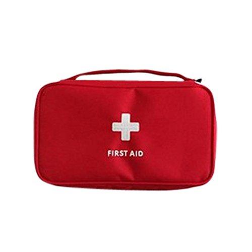 Caja de Slmacenamiento, Emergencia supervivencia botiquín de primeros auxilios tratamiento al aire libre Casa rescate médico bolsa calor LMMVP (Rojo, ...