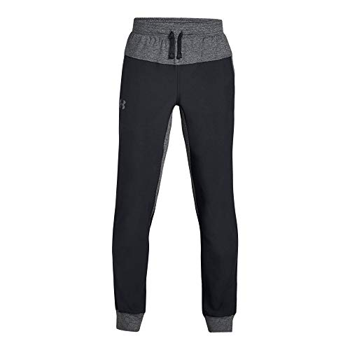 Woven Warm Up Pant - Under Armour Boys Woven Warm Up Jogger, Black (001)/Graphite, Youth X-Large