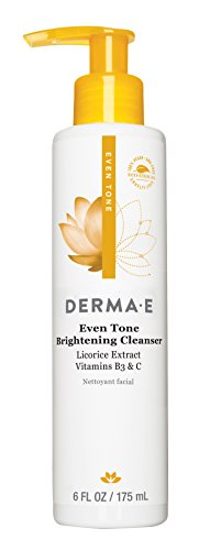 DERMA E Even Tone Brightening Cleanser with Vitamin C, 6 oz
