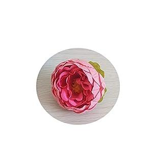 Endand 1pc/3pcs/5pcs 10cm Peony Flower Head Silk Artificial Flower Wedding Decoration DIY Garland Craft Flower 6A1242,9,3pcs 9