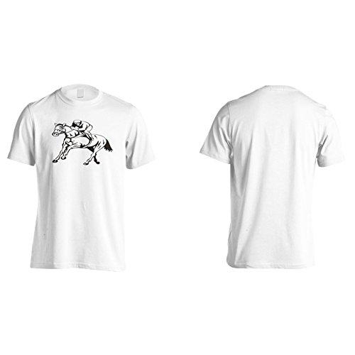 Neues Pferd Und Jockey Rennen Herren T-Shirt l557m