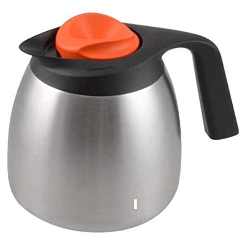 Bunn Zojirushi 64oz. 1.9L Thermal Carafe Decaf Orange Top 51746.0003