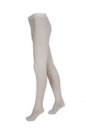 Janus Wool Tights Women's Made in Norway (36-38 (XS), Off-White Jacquard)