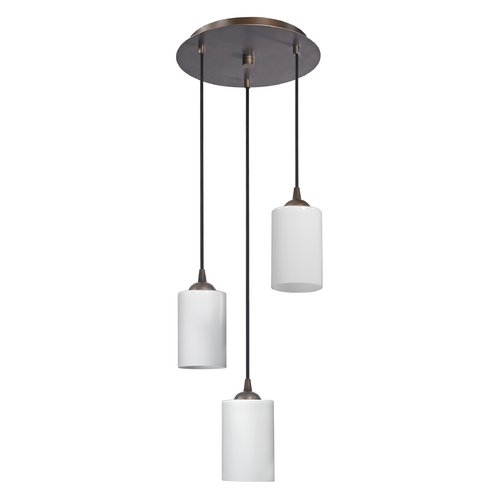 Modern Multi-Light Pendant Light with White Glass and 3-Lights by Design Classics (Image #2)