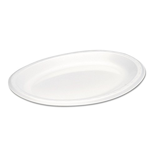 - Genpak Large White Elite Laminated Oval Platter, 8.5 x 11.5 inch - 500 per case.