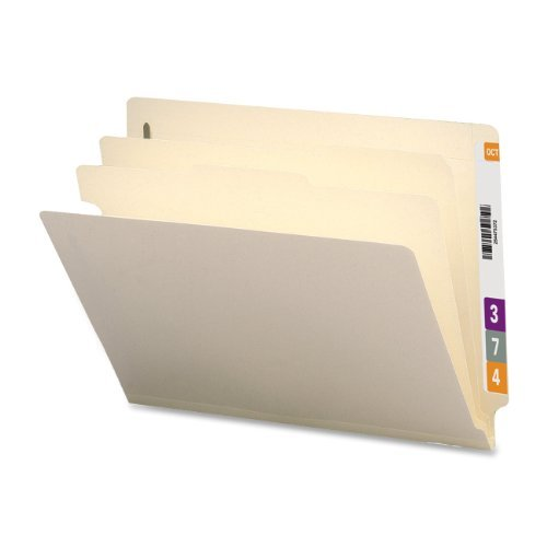 Sparco Classification Folder, End Tab, 2 Div, 10 per Box, Manila (SPRSP18254) by S.P. Richards Company