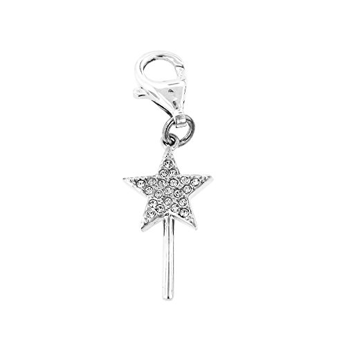 From Wizard Oz Of Glinda (Sterling Silver Wizard of Oz Crystal Glinda's Star Wand Clip on)