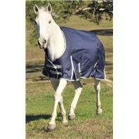 GATSBY LEATHER COMPANY 284264 Gatsby Premium 1200D Medium Weight Turnout Blanket Navy/Silver, 76\
