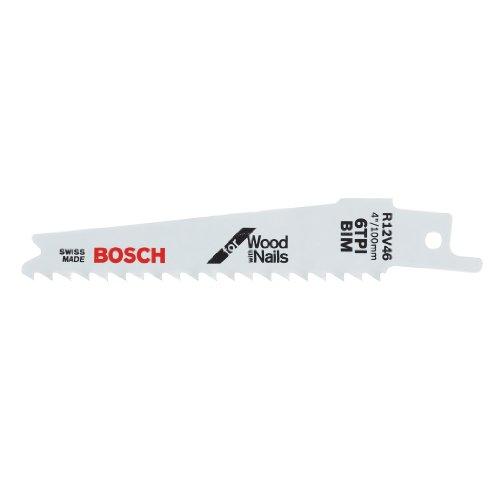 4in Reciprocating Saw Blade - Bosch R12V46 5-Piece 4 In. 6 TPI Wood with Nails Reciprocating Saw Blades