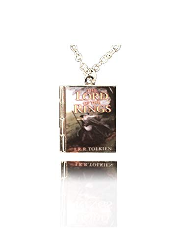(Di Capanni The Lord of The Rings Book Necklace Gift for her him Charm Locket Necklace J.R.R. Tolkien LOTR Art Jewelry (Alloy Locket)