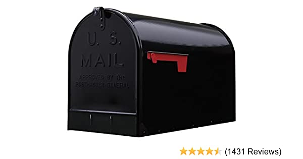 residential mailboxes side view. Amazon.com: Gibraltar Mailboxes Stanley Extra-Large Capacity Galvanized Steel Black, Post-Mount Mailbox, ST200B00: Home Improvement Residential Side View