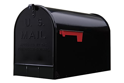(Gibraltar Mailboxes Stanley Extra-Large Capacity Galvanized Steel Black, Post-Mount Mailbox, ST200B00)