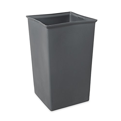 Rubbermaid Commercial  Rigid Trash Can Liner, Square, 35-1/2 Gallon, Gray, (Square Bin Liners)