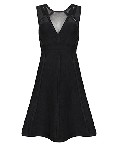 Negro Para Sin Vestido Mini Mujer K Mangas Bar Vestidos Fiesta Nocturna Ajustado EtqBwvTxB6
