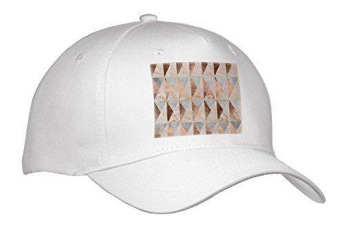 Uta Naumann Faux Glitter Pattern - Image Of Abstract Geometrical Copper Marble Polygonal Argyle Pattern - Caps - Adult Baseball Cap (Argyle Embroidered Cap)