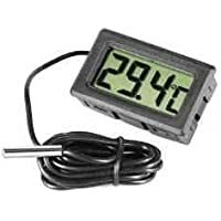 Omkuwl Termómetro de acuario LCD digital con termómetro
