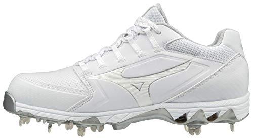 Mizuno 320588.0000.10.0850 9-Spike Swift 6 Low Womens Metal Softball Cleat White (0000) 8 1/2 (0850)