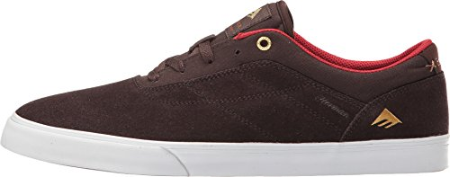Emerica The Herman G6 Vulc, Color: Brown/White, Size: 38.5 Eu / 6.5 Us / 5.5 Uk