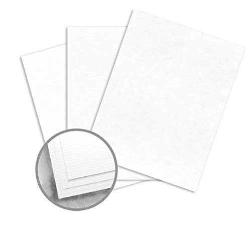 88lb Cardstock - 8.5 x 11 Letter Coverstock - Bright White Laid - 125 Sheets