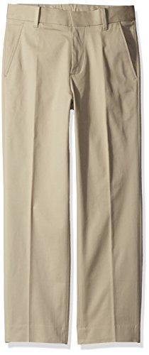 Calvin Klein Big Boys' Fine Line Stretch Twill Pant, Khaki, 12 (Calvin Klein Khaki Pants)