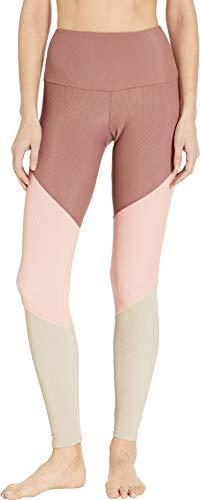 (Onzie Women's High-Rise Track Leggings Toast Rib Combo Small 28)