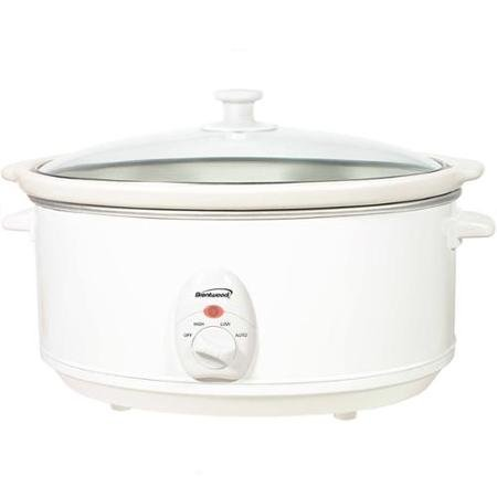 Brentwood 6.5QT Slow Cooker White Body by Supersonic