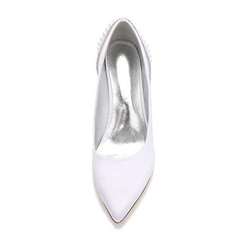 Zapatos yc Para Medio Boda Nupcial Blue Corte La Mujer Dedo L De fZqw5fO