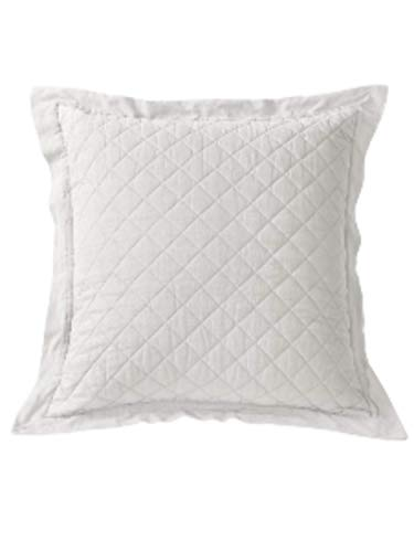 Sham Diamond Quilted - Cowgirl Kim White Diamond Pattern Linen Quilted Euro Shams~ Shams Only