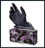 Adenna Shadow Black Nitrile Powder-Free Exam Gloves Large Case