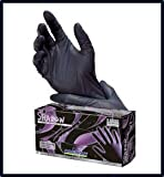 Adenna Shadow Black Nitrile Powder-Free Exam Gloves Medium Case
