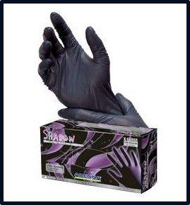 Adenna Shadow Black Nitrile Powder-Free Exam Gloves Small Case by Adenna (Image #1)