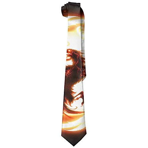 Magic Art Firebird Phoenix Polyester Neckwear Silk Neck Tie, Men's Cool Personalized Classic Neckties,Graduation Meeting Business Casual Skinny Ties ()