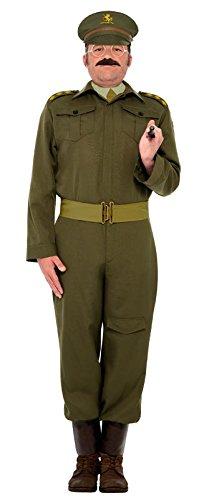 Smiffy's Men's WWII Home Guard Captain Costume, Green, (Ww2 Home Guard Costume)